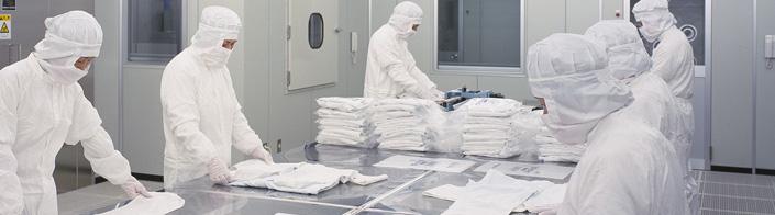 ISO9001に基づく厳格な管理と、無塵・無菌のクラス100をキープしたクリーンルームでの作業により、医療・食品・IT関連業界などが求める厳しい要求に的確なレスポンスを届けています。
